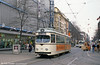 Mannheim 418 at Paradeplatz on 4th April 1991.