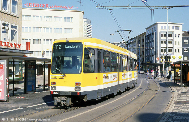Mulheim 285 at Ruhrstrasse on 12th April 1991.