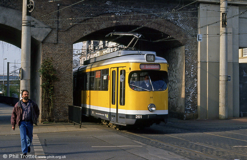 Mulheim 261 at Rathausmarkt on 19th April 1994.