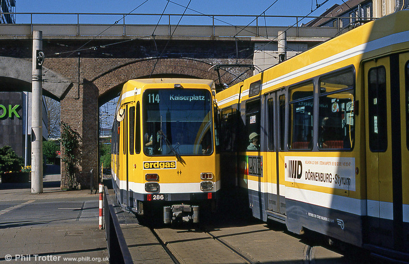 Mulheim 286 at Rathausmarkt on 12th April 1991