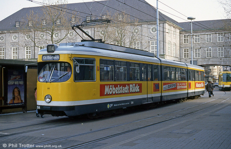 Mulheim 264 at Rathausmarkt on 19th April 1994.
