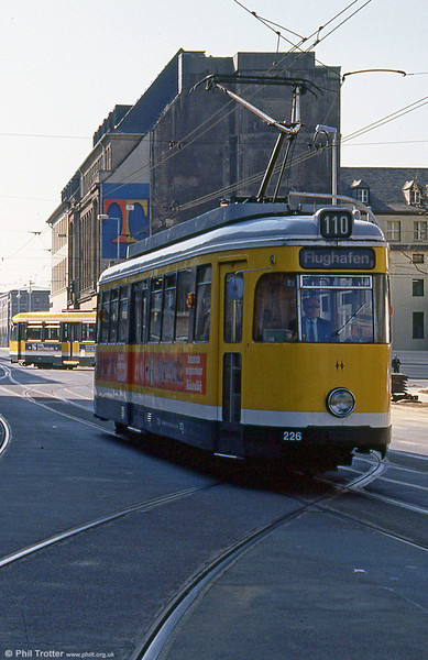Mulheim 226 at Ruhrstrasse on 12th April 1991.