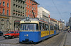 Locally-built Munich Rathgeber car 2025 at the Hauptbahnhof on 20th April 1993.