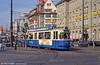 Munich Rathgeber car 2443 at the Hauptbahnhof on 20th April 1993.