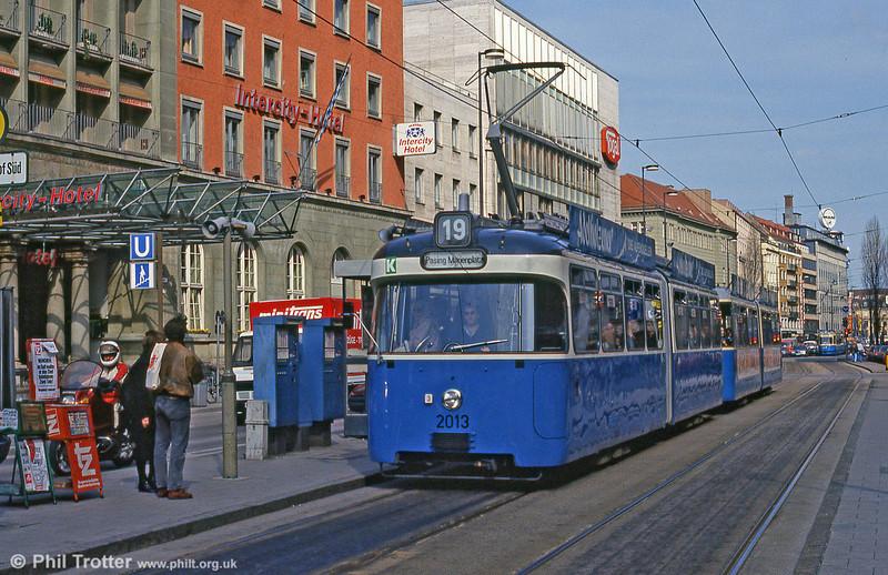 Munich Rathgeber car 2013 at the Hauptbahnhof on 20th April 1993.