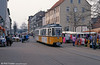 Nordhausen ex-Stuttgart (576) GT4 car 77 at Bahnhofstrasse on 13th April 1993.