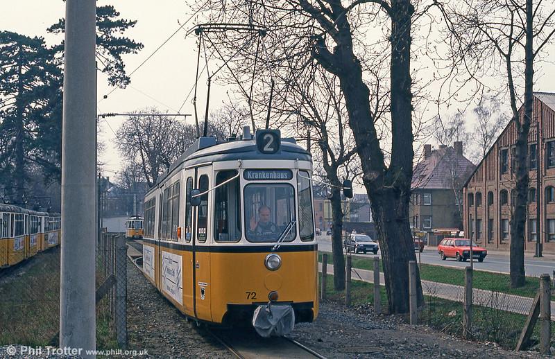 Nordhausen ex-Stuttgart (544) GT4 car 72 at Parkallee on 13th April 1993.