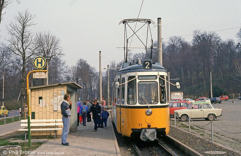 Nordhausen ex-Stuttgart (527) GT4 car 71 at Parkallee on 13th April 1993.