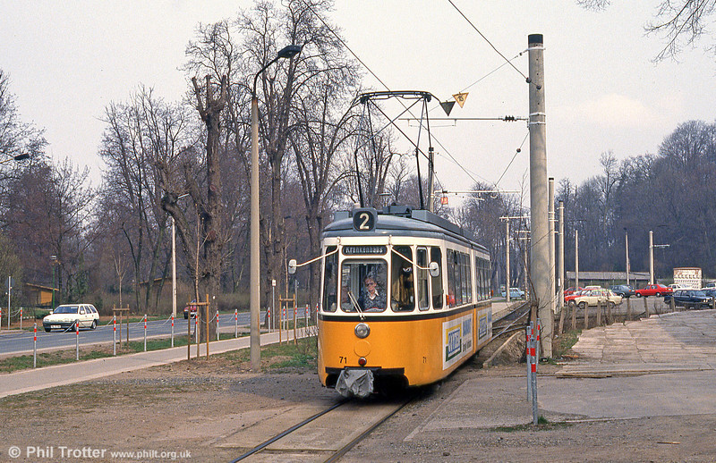 Nordhausen ex-Stuttgart (527) GT4 car 71 at Parkallee on 13th April 1993.