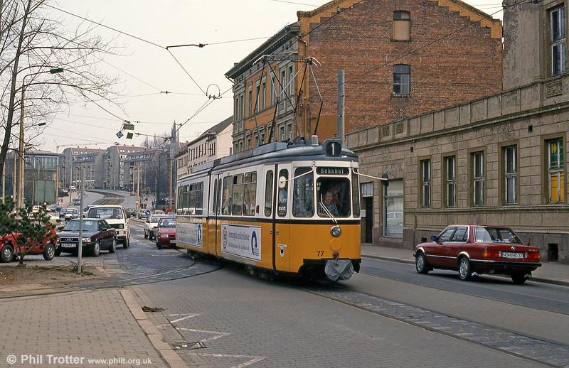Nordhausen ex-Stuttgart (576) GT4 car 77 at Arnoldstrasse on 13th April 1993.