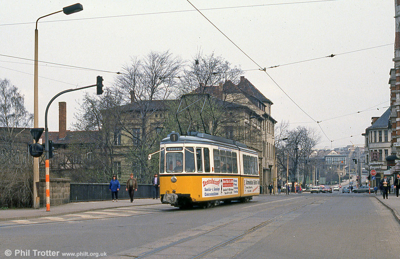 Nordhausen ex-Stuttgart 78 in Bahnhofstrasse on 13th April 1993.