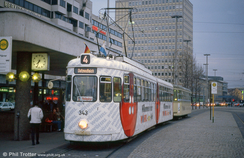 Nürnberg 343 at Plarrer on 4th April 1991.