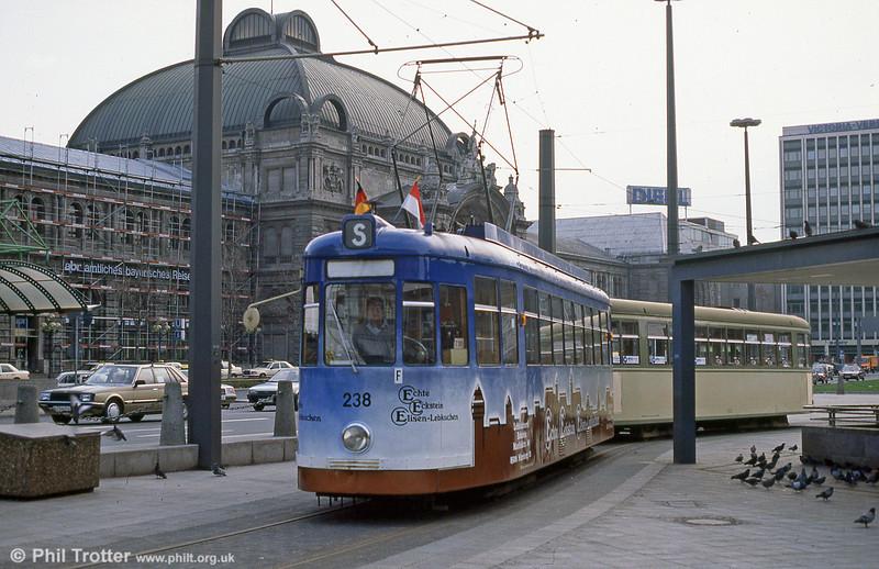 Nürnberg 238 at the Hauptbahnhof on 4th April 1991.