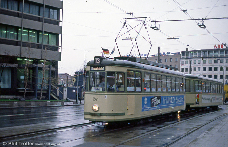 Nürnberg 241 at the Hauptbahnhof on 5th April 1991.