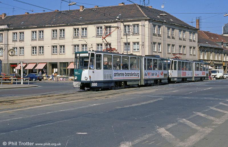 Potsdam Tatra KT4D no. 080 at Platz der Einheit