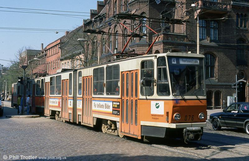 Potsdam Tatra KT4D no. 070 at Babelsberg.