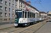 Potsdam Tatra KT4D no. 016 in the new livery at Platz der Einheit.