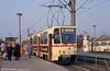 Tatra T6A2 619 at Baulager on 14th April 1993.