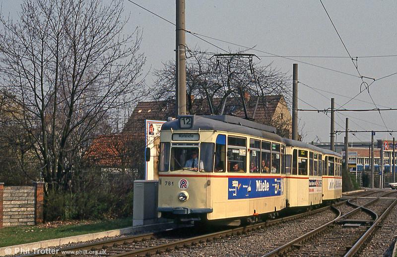 Gotha car 781 at Steintor on 14th April 1993.