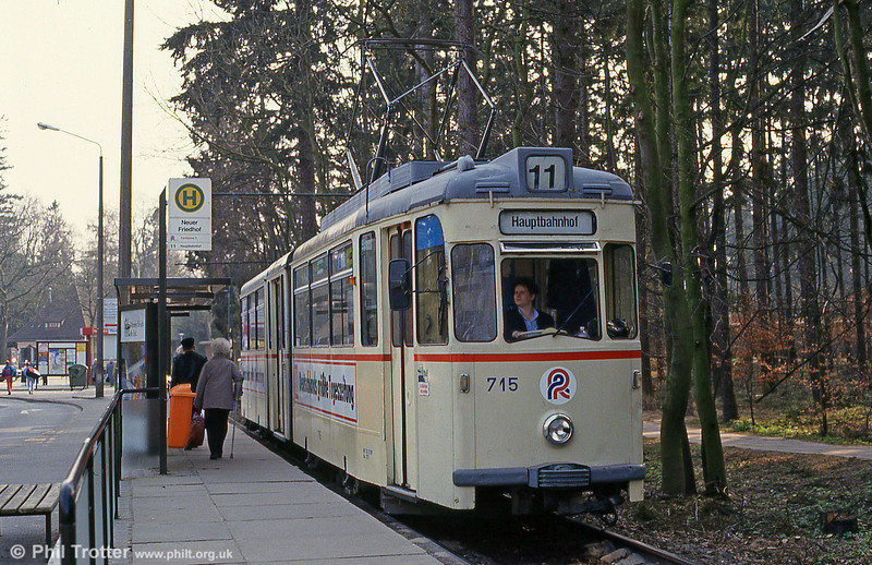 Gotha car 715 at  Neuer Friedhof on 14th April 1993.