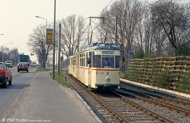 Gotha car 733 at Hamburger Strasse on 14th April 1993.