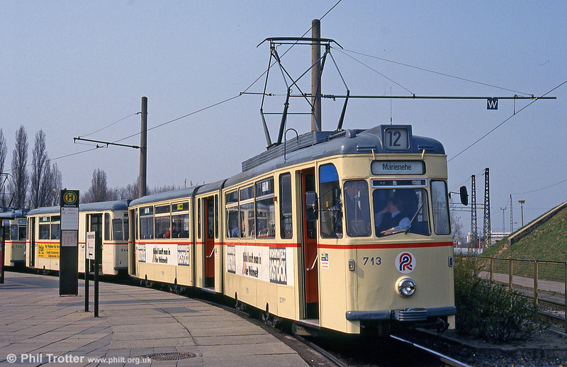 Gotha car 713 at Marienehe on 14th April 1993.