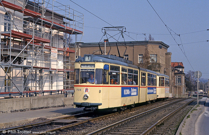 Gotha car 709 at Steintor on 14th April 1993.