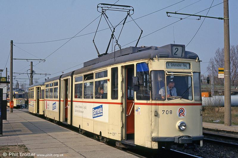 Gotha car 708 at Marienehe on 14th April 1993.