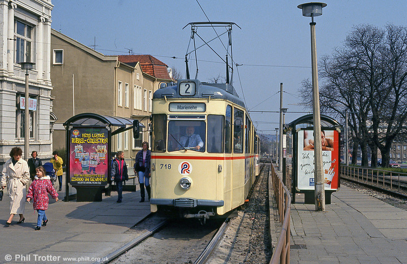 Gotha car 718 at Steintor on 14th April 1993.