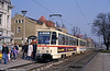 Rostock T6A2 621 at Dierkow on 14th April 1993.