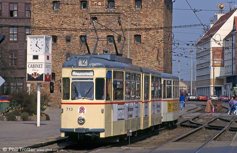 Gotha car 713  at Steintor on 14th April 1993.