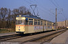 Rostock ex-Leipzig 'Two rooms and a bath' car 733 of 1965 vintage at Baulager on 14th April 1993.