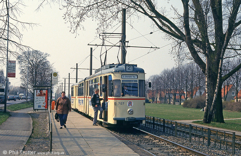 Gotha car 707 at Steintor on 14th April 1993.