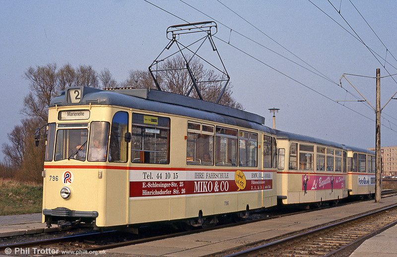 Gotha car 796 at Baulager on 14th April 1993.