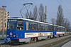 Rostock Tatra T6A2 605 in its new livery at Dierkow on 14th April 1993. (Forst published in Light Rail & Modern Tramway, 8/93).