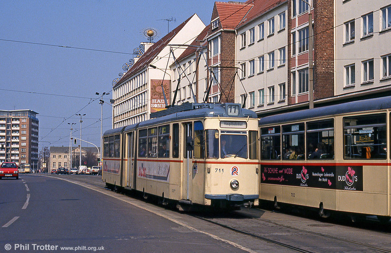 Gotha car 711 at Steintor on 14th April 1993.