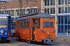 Gotha works car 556 of 1955 at the depot, Hamburger Strasse  on 14th April 1993.
