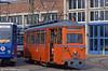 Gotha works car 556 of 1955 at the depot, Hamburger Strasse  on 14th April 1993.