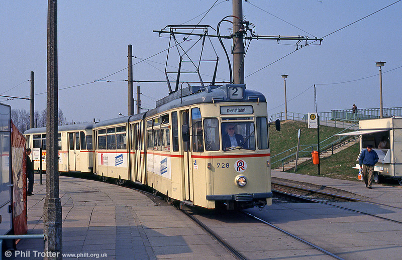 Gotha car 728 at Marienehe on 14th April 1993.