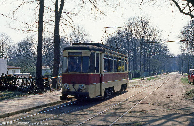 Schoneiche 62, a bogie car built by LEW in 1966 at Schoneiche on 10th April 1991.