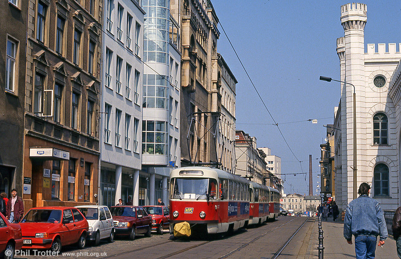 Tatra T3D 277 at Wismarsche Straße on 15th April 1993