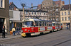 Schwerin Tatra T3 283 at Marienplatz on 15th April 1993.