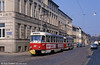 Tatra T3D 245 near the Hauptbahnhof on 15th April 1993.