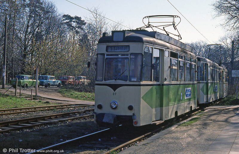 Former Berlin Strausberg REKO 07 at the southern terminus, at the S-bahn station.
