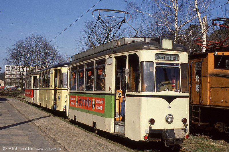 Former Berlin Strausberg REKO 06 at the southern terminus, at the S-bahn station.