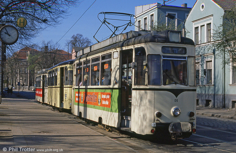 Strausberg car 06 at Lustgarten, the town terminus.