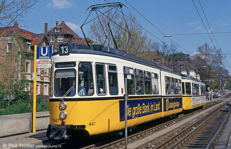 Stuttgart 432 at Kirchhof on 21st April 1993.
