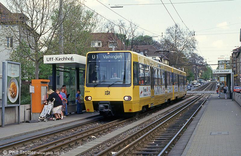 Stuttgart 3084 at Kirchhof on 21st April 1993.