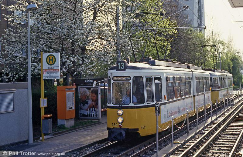 Stuttgart 432 at Giebel on 21st April 1993.