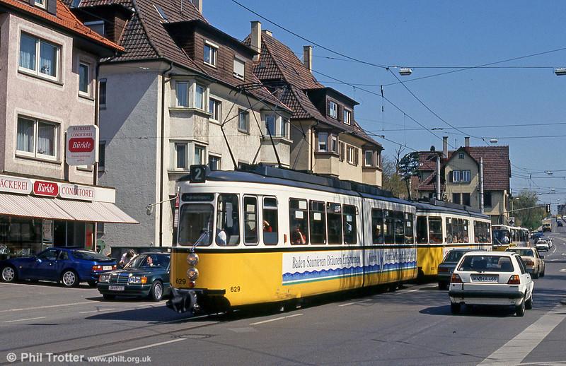 Stuttgart 629 at Obere Ziegelei on 21st April 1993.